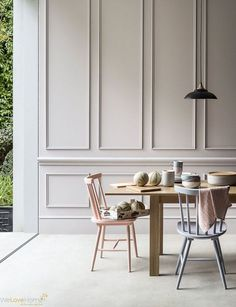 Clients sometimes ask me if they should put moldings, wainscoting, or paneling up in certain areas, and I can honestly say that I have never said no. I am a complete sucker for intricate wood work, the fancier the better, even in modern rooms. Actually, especially in modern rooms. I'm partial to white, but really
