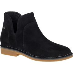 Hush Puppies Womens Claudia Catelyn Black Suede Ankle Boot The round-toe Claudia Catelyn is your go-to simple slip on in WorryFree Suede so you can