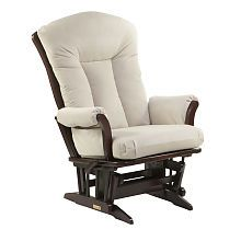"""Dutailier XL Micro Glider in Cherry Finish with Ecru Fabric - Dutailier - Babies """"R"""" Us.""""for nursery"""