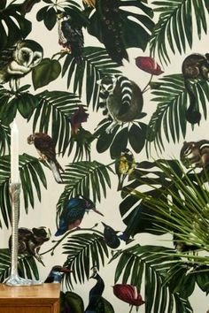 Amazonia Light Wallpaper by Witch and Watchman - 10 m Roll