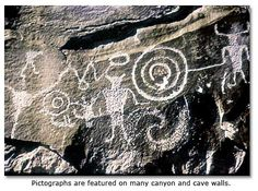 Pictographs are featured on many canyons and cave walls. -- The Lake Amistad Texas area has some of the oldest and best-preserved archaeological sites in North America.  Radiocarbon dating has shown that humans first inhabited the area near the end of the last Ice Age, about 11,000 years ago.