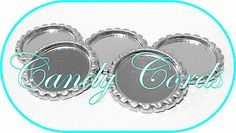 6 Chrome Flattened Bottle Caps Tray Settings FIT 25mm 1Inch BUY 3 GET 1 FREE