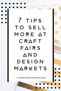 Want to learn how to sell more at design markets or craft fairs? Click through to discover my 7 tips to sell more at craft fairs and design markets so you can be more successful and grow your creative business! Etsy Business, Craft Business, Creative Business, Business Tips, Digital Marketing Strategy, Online Marketing, Craft Fair Displays, Display Ideas, Handmade Market