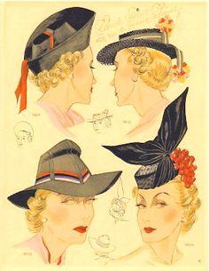 Chapeaux Modernes, summer 1938