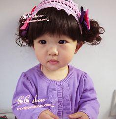 That hair.so cute Korean Princess, Korean Babies, Asian Kids, Hair Hoops, Hair Jewelry, Hair Band, Wigs, Female, Children