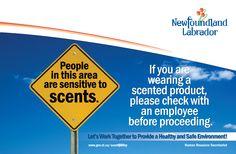 Newfoundland Labrador Scent-Free Sign