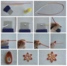 Quilling tarak çalışmaları - combed flower