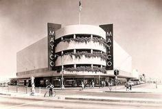 The May Company at the corner of Crenshaw and Santa Barbara Avenue (renamed Martin Luther King, Jr. Boulevard in 1983), 1940. The building is now a Macy's, and the corner is where the space shuttle Endeavour was stuck turning on the night of its move from LAX to its new museum site on Exposition Boulevard.
