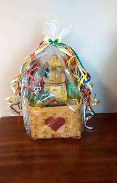 Handmade WINE CRACKERS & CHEESE Handpainted Picnic Gift Basket by cappelloscreations, $65.00 @Etsy
