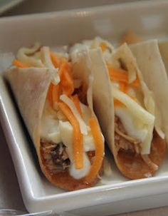 mini tacos - and lots of other mini food. Maybe for like a cocktail hour?