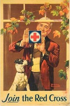Norman Rockwell the Red Cross vintage ad Norman Rockwell Prints, Norman Rockwell Paintings, Vintage Ads, Vintage Posters, Vintage Magazines, Vintage Advertisements, The Saturdays, Munier, American Red Cross