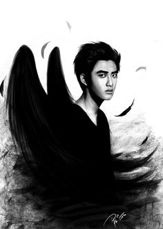 DO from EXO fan art by Dei Ki.