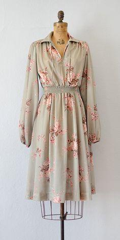 vintage 1980s celadon rose floral print dress | Celadon Belloq Dress from Adored Vintage #floraldress #vintagedress