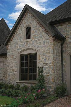 Granbury Palomino -- I love this stone and brick work!