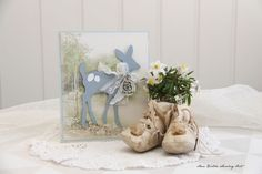 """Baby card using Pion's """"Easter Greetings"""" paper collection"""