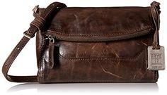 Women's Cross-Body Handbags - Frye Melissa foldover crossbody slate >>> For more information, visit image link.