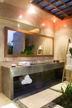 Villa Baraka — I love that the mirror is off the vanity!