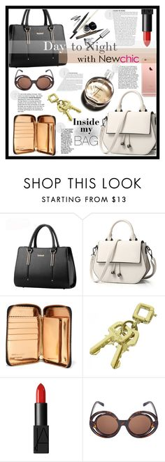 """What's in my NewChic bag?"" by sunshineb ❤ liked on Polyvore featuring Comme des Garçons, Louis Vuitton, NARS Cosmetics, Chanel, chic, New and newchic"