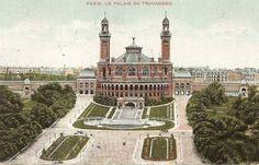 Trocadero Paris | La vue familière du Palais de Chaillot construit lors de l'Exposition ...