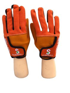 NEW FINGERLESS GLOVES PALM IS WHITE LEATHER BACK IS RED TOWELLING XL