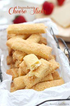 4 einfachen Zutaten eigene flockige, buttrig, leicht knusprige Käse-Sticks haben.