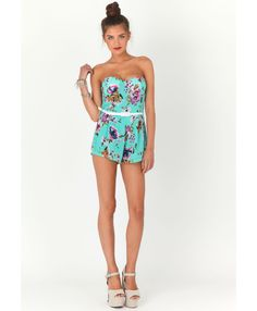 $21 Lusinda Floral Playsuit - if only I had the body!