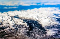 Nicely Made Tilt shift photo of Russia - Hills next to Baikal Lake