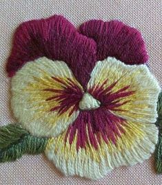Wonderful Ribbon Embroidery Flowers by Hand Ideas. Enchanting Ribbon Embroidery Flowers by Hand Ideas. Hand Embroidery Flowers, Crewel Embroidery Kits, Embroidery Stitches Tutorial, Learn Embroidery, Silk Ribbon Embroidery, Hand Embroidery Patterns, Embroidery Techniques, Machine Embroidery, Embroidery Supplies