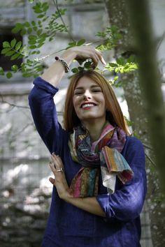 https://www.cityblis.com/10362/item/14441 | Magnolia - $99 by Alina Braun | 92% fine wool  8% silk | #Scarves