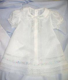 Ms. Dot's White Nelona Embroidered Baby Dress (Old. Fash. Baby)