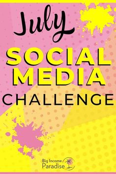 Maybe you're struggling with Social Media content and you need some ideas. Well, you're in luck! Here's the July Social Media challenge for all bloggers, entrepreneurs and small business owners. The July Social Media challenge will give you post ideas for every day and some extra Social Media tips that will help you boost engagement, followers, and sales. || July social media challenge || social media challenge July 2020 || #socialmediachallenge Social Media Challenges, Social Media Calendar, Social Media Tips, Social Media Marketing, Get Instagram Followers, Find Instagram, Instagram Tips, Social Media Template, Social Media Design