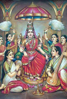 Raja Ravi Varma's Rajarajeswari oil painting on canvas Tanjore painting by My Mom's Art Gallery Shiva Art, Krishna Art, Hindu Art, Krishna Leela, Mysore Painting, Tanjore Painting, Kali Goddess, Indian Goddess, Saraswati Goddess