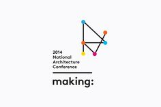 Logo designed by Garbett for the Australian Institute of Architects' 2014 conference Making