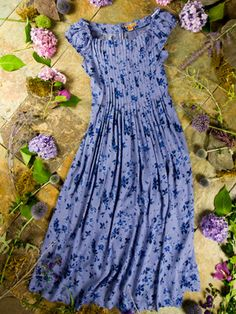 Sweet lavender blue summer dress from April Cornell•