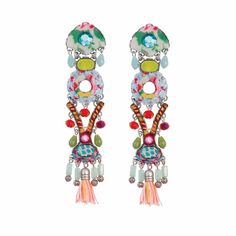 Ayala Bar Jewelry contains silver plated brass & metal alloys, glass beads, ceramic stones, crystal rhinestones, and / or fabrics Ayala Bar, Bar Earrings, Stuffed Hot Peppers, Wind Chimes, Florence, Dream Catcher, Crochet Necklace, Abs, Fashion Jewelry