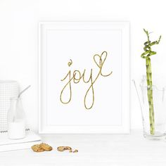 Motivational Print Wall Decor Joy by The Motivated Type on Etsy