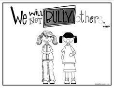 anti bullying poster and coloring page freebie bullying