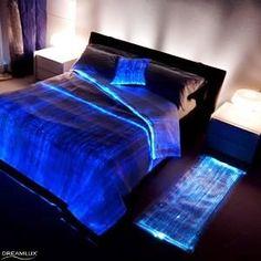 luminous Bed Cover  http://www.fiberopticlighting.co.za