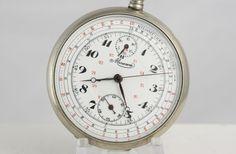 Minerva Vintage Chronograph Stunning Enamel Dial Extraordinary Pocket Watch | eBay