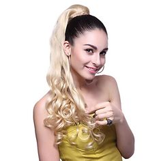 High Quality Synthetic Long Wavy Blonde Ponytail – USD $ 12.99