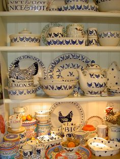 Emma Bridgewater - beautiful blues and on't forget the roosters