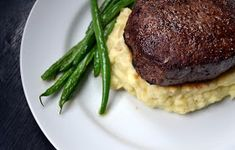 Hardly Housewives: How to Make the Perfect Filet Mignon .just ensure sour cream is low-fat and butter is earth balance soy free. Entree Recipes, Easy Dinner Recipes, Meat Recipes, Easy Meals, Healthy Recipes, Dinner Ideas, Lamb Recipes, Healthy Dinners, Family Recipes