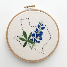 Browse unique items from NerdandBrawler on Etsy, a global marketplace of handmade, vintage and creative goods. Bluebonnet Tattoo, Texas Tattoos, Wooden Embroidery Hoops, Texas Bluebonnets, Christmas Embroidery, Blue Bonnets, Crafty Projects, Jewelry Crafts, Tatting
