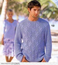 swetry męskie - wzory na druty - mariokos47 - Chomikuj.… na Stylowi.pl