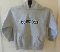 NFL Dallas Cowboys Authentic Apparel Gray Pullover Hoodie Youth Size Medium   DallasCowboys Nfl Dallas Cowboys 13a060688
