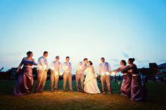 LOVE the sparklers! #MinneapolisWeddingPhotographer #WeddingParty # Sparklers