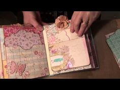 4x6 pocket mini album using G45's Time to Flourish Ephemera cards - YouTube