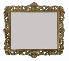 Pierced And Carved Gilt Wood Mirror on Chairish.com