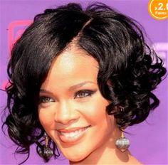 黒人女性のかつらファッションスタイル黒カーリー合成かつら純粋なカラーショートカーリーウィッグショルダー長さ短い髪かつら3091 z63