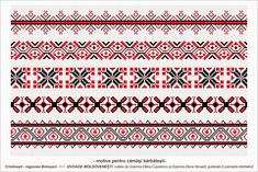Semne Cusute: Romanian traditional motifs - MOLDOVA - Botosani, Cristinesti Folk Embroidery, Embroidery Patterns, Stitch Patterns, Knitting Patterns, Point Lace, Moldova, Hama Beads, Beading Patterns, Pixel Art
